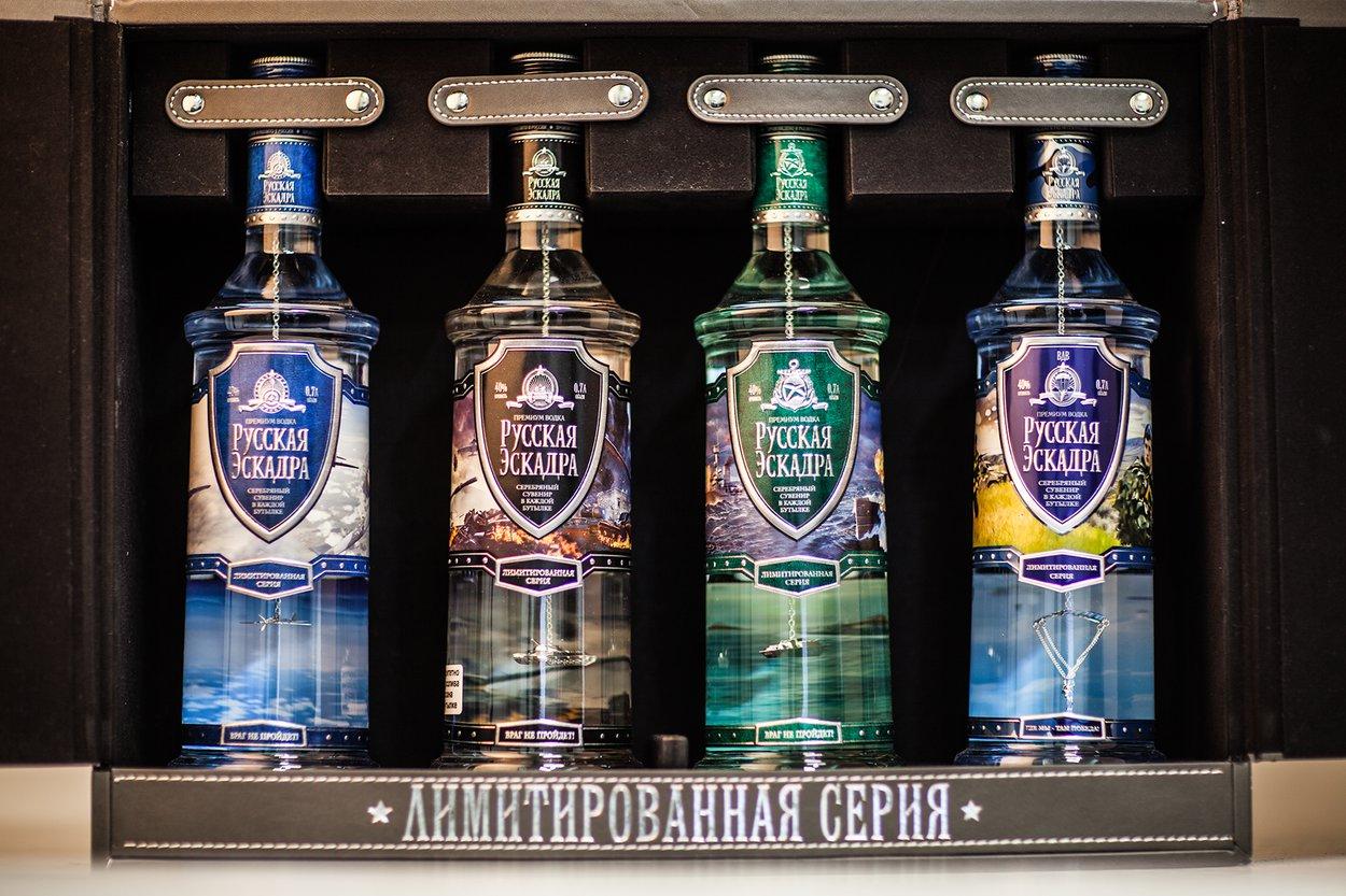Водка Русская Эскадра лимитированная серия