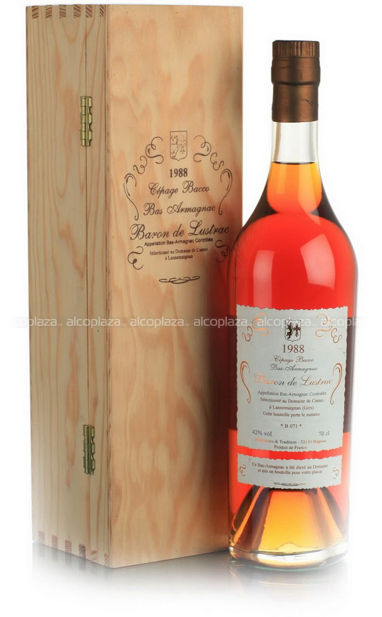Baron de Lustrac 1965 Folle Bianche Domaine Notre Dame de Bouit арманьяк Барон Де Люстрак 1965 года Фоль Бланш Домэн Нотр Дам Де Буэ