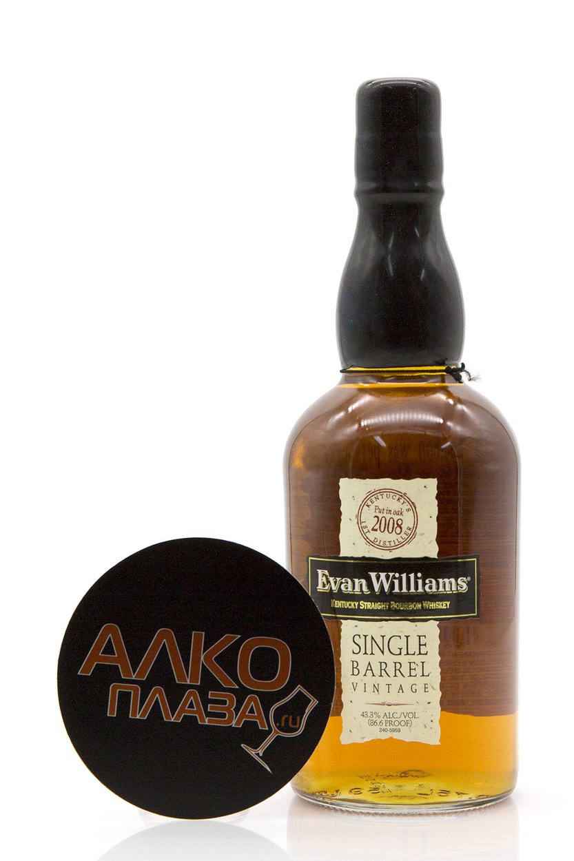 Evan Williams Single Barrel Vintage 2008 0.75l виски Эван Уильямс Сингл Баррел Винтаж 2008 0.75 л.