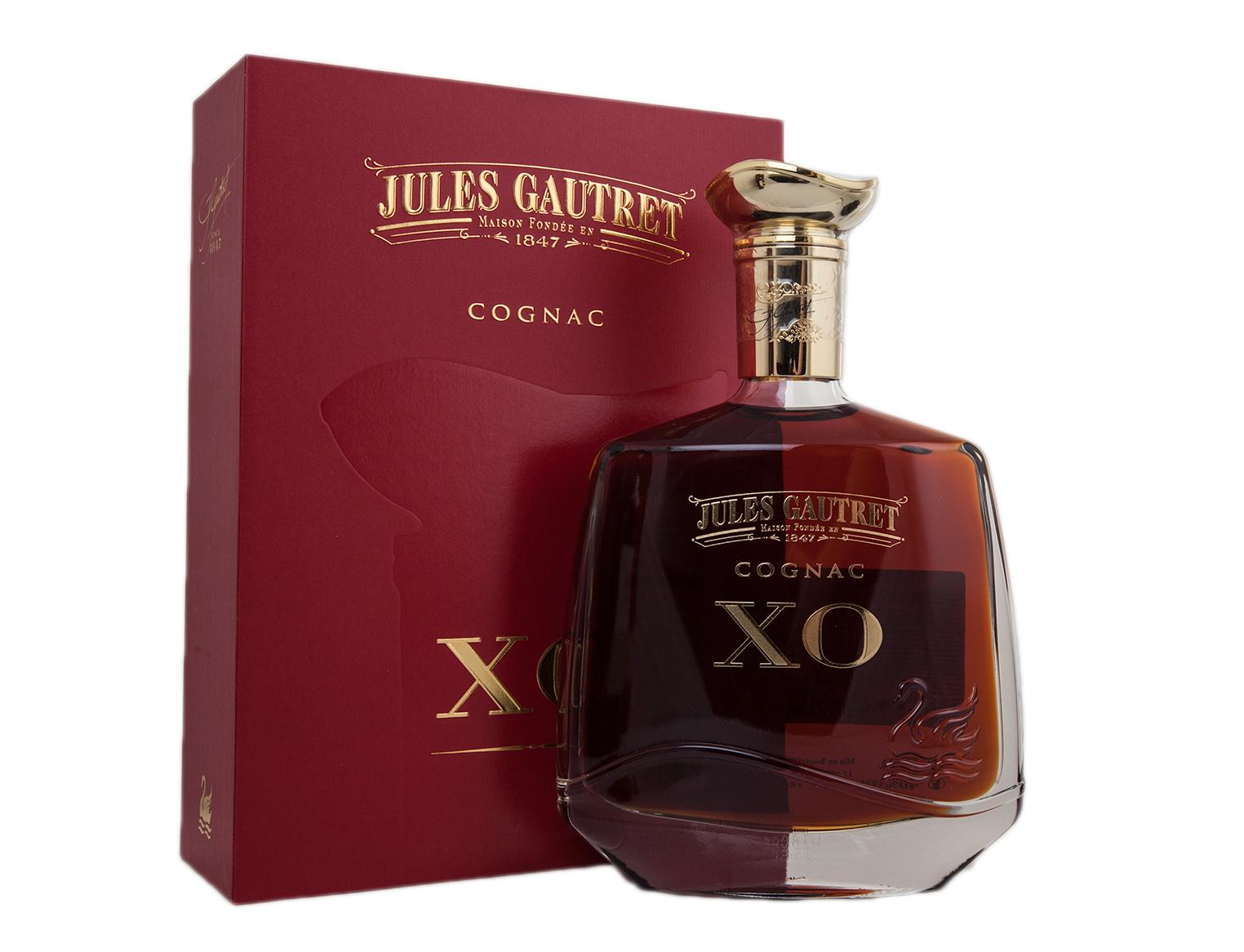 Jules Gautret XO gift box - купить коньяк Жюль Готре XO 0.7 л в п/у (красная) - цена