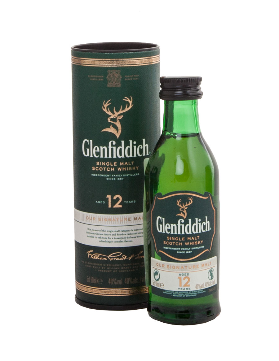 Glenfiddich 12 years - виски Гленфиддик 12 лет 0.05 л