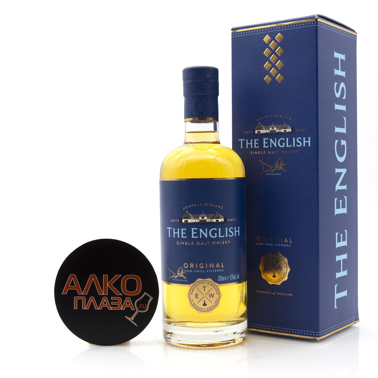 English Whisky Original Single Malt 0.7l gift box - виски Инглиш Ориджинал Сингл Молт 0.7 в п/у
