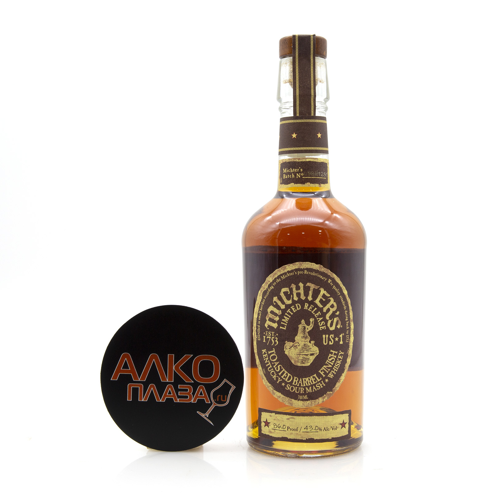Michters Toasted Barrel Sour Mash - виски Миктерс Тостед Баррел Сауэр Мэш  0.7 л