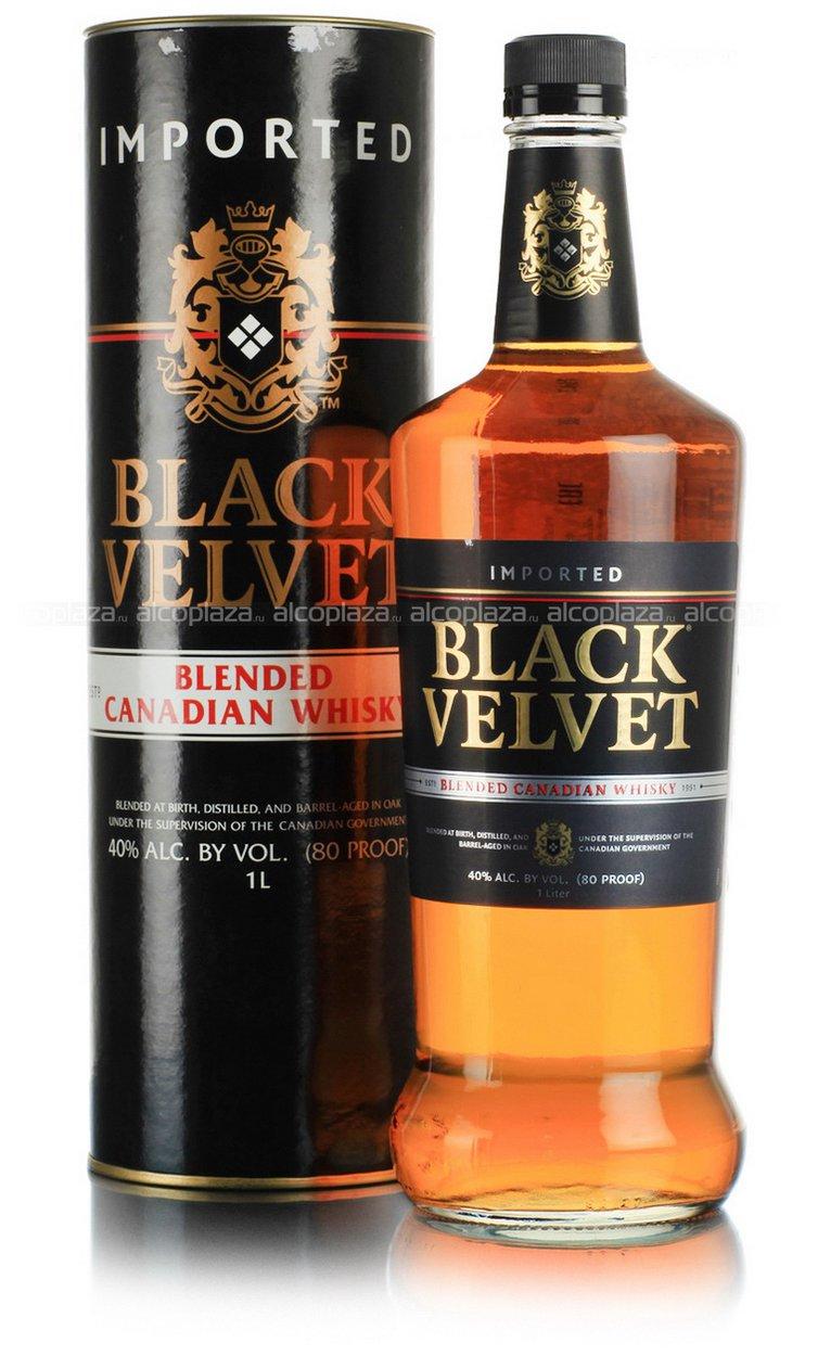 Black Velvet 1L виски Блэк Вельвет 1 л. в тубе