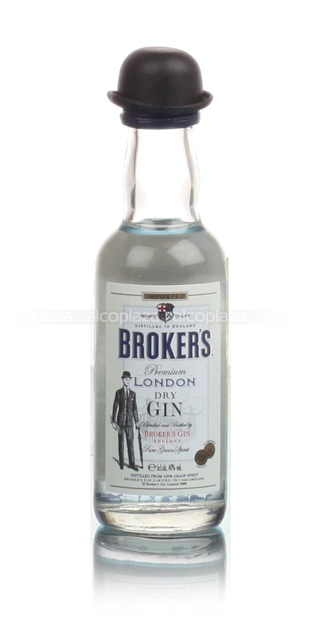 Brokers Premium London Dry джин Брокер Премиум Драй 0.05 л