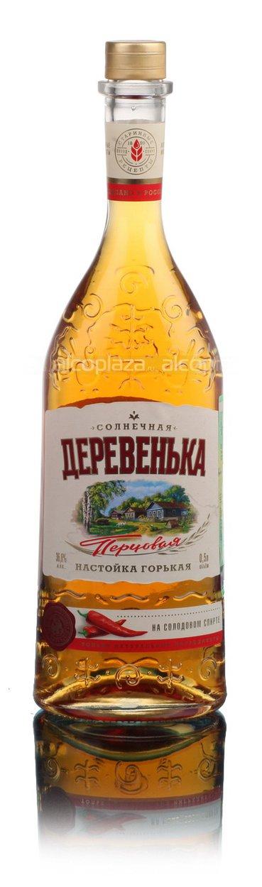 Настойка Горькая Перцовая Солнечная Деревенька на солодовом спирте Альфа