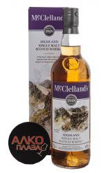 McClellands Highland - виски Макклелланд Хайленд 0.7 л