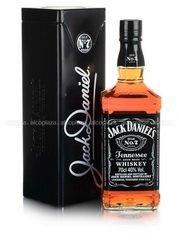Jack Daniels 0.7 in metall box виски Джек Дэниэлс 0.7 л. в металл. упаковке
