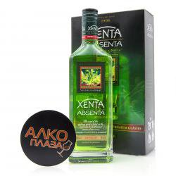 Absinth Xenta 0.7l gift box Абсент Ксента в п/у + 2 бокала