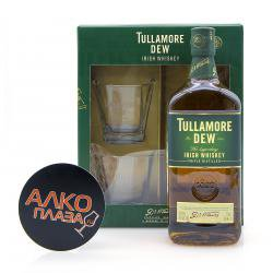Tullamore Dew with 2 glasses 0.7l виски Талламор Дью с двумя стаканами 0.7 л.