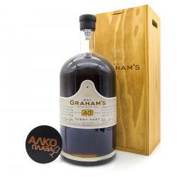 Grahams 40 Years Old Tawny Port 4.5L Wooden Box портвейн Грэм`с Эйджд 40 Еарс Тони 4.5л в дер./ур.