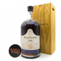Grahams 30 Years Old Tawny Port 4.5L Wooden Box портвейн Грэм`с Эйджд 30 Еарс Тони 4.5л в дер./ур.