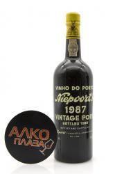 Niepoort Vintage 1987 0.75l портвейн Нипоорт 1987 0.75 л.