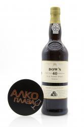 Porto Dow`s 40 Years Old Tawny 0.75l Портвейн Доуз Тони 40 лет 0.75 л.