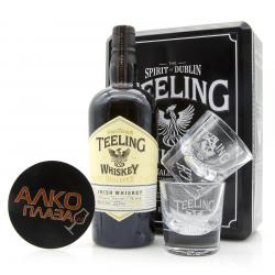 Teeling Irish Whisky Blend 0.7l gift box with glass виски Тилинг Айриш Виски Бленд 0.7л с бокалами