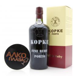 Porto Kopke Fine Ruby 0.75l Gift Box Портвейн Копке Файн Руби 0.75 л. в п/у