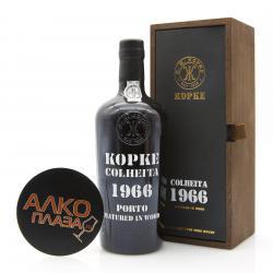 Kopke Colheita 1966 0.75l Wooden Box портвейн Копке Колейта 1966 0.75 л. в дер./уп.