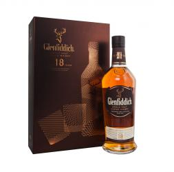 Glenfiddich 18 years gift box - виски Гленфиддик 18 лет 0.75 л