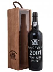 Real Companhia Velha Vintage Port 2001 0.75l Wooden Box Портвейн Реал Компания Велья Винтаж Порт 2001 0.75 л. в дер./уп.