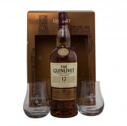 Glenlivet 12 years Excellence - виски Гленливет Экселленс 12 лет 0.7 л +2 бокала