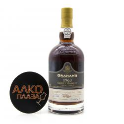 Graham`s Single Harvest Tawny Port 1963 0.75l in Gift Tube портвейн Грэм`c Cингл Харвест Тони