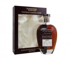 Tomintoul Speyside Glenlivet Vintage Single Cask 1977 years Виски Томинтул Спейсайд Гленливет Винтаж Сингл Каск 1977г
