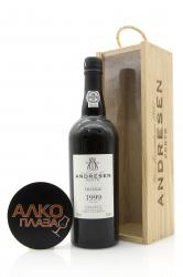 Porto Andresen Vintage 1999 0.75l Wooden Box португальский портвейн Андресен Винтаж 1999 0.75 л. в дер./уп.