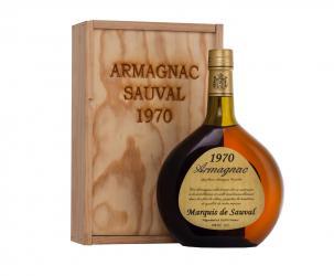 Armagnac Marquis de Sauval 1970 years Арманьяк Маркиз де Соваль 1970 года