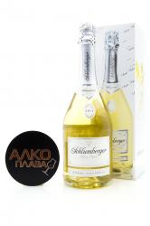 Schlumberger Brut Nature Vintage 0.75l Gift Box Игристое вино Шлюмбергер Брют Натюр Винтаж 0.75