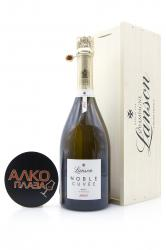 Lanson Noble Cuvee de Lanson Brut 2002 in wooden box - шампанское Лансон Нобль Кюве де Лансон Брют 0.75 л в дер./уп