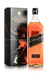 Johnnie Walker Black Label 12 years 1L виски Джонни Уолкер Блэк Лейбл 12 лет 1 л.