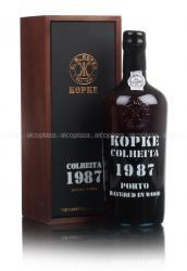 Kopke Colheita 1987 0.75l Wooden Box портвейн Копке Колейта 1987 0.75 л. в дер./уп.