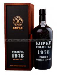 Kopke Colheita 1978 0.75l Wooden Box портвейн Копке Колейта 1978 0.75 л. в дер./уп.
